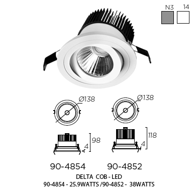 Delta Cob Recessed Ceiling Light By Leds C4 Sii Light